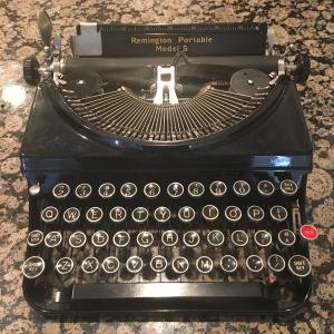 Rev. Julie's beloved grandmother's typewriter